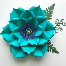 Diy Paper Flowers 7 214x214 - Coolest DIY Paper Flowers for Anyone