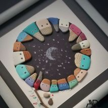 Diy Pebble Art 1 214x214 - 55+ of the Best Creative DIY Ideas For Pebble Art Crafts
