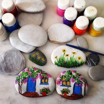 Diy Pebble Art 15 214x214 - 55+ of the Best Creative DIY Ideas For Pebble Art Crafts