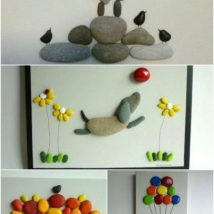 Diy Pebble Art 36 214x214 - 55+ of the Best Creative DIY Ideas For Pebble Art Crafts