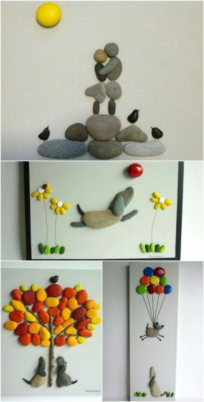 Diy Pebble Art 36 - 55+ Of The Best Creative DIY Ideas For Pebble Art Crafts