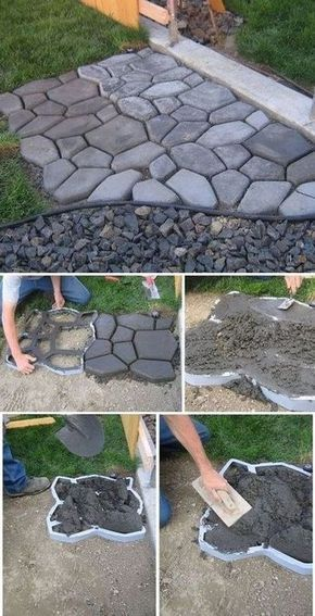 Diy Stepping Stones 31 - DIY Stepping Stones To Make Your House Stunning