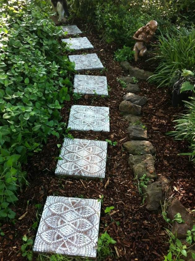 Diy Stepping Stones 37 - DIY Stepping Stones To Make Your House Stunning