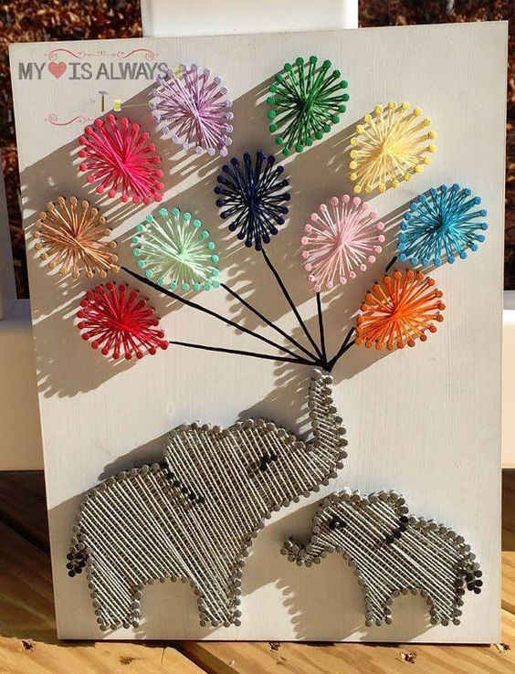 Diy String Art Animals 11 - Creative DIY String Art Animals For Everyone