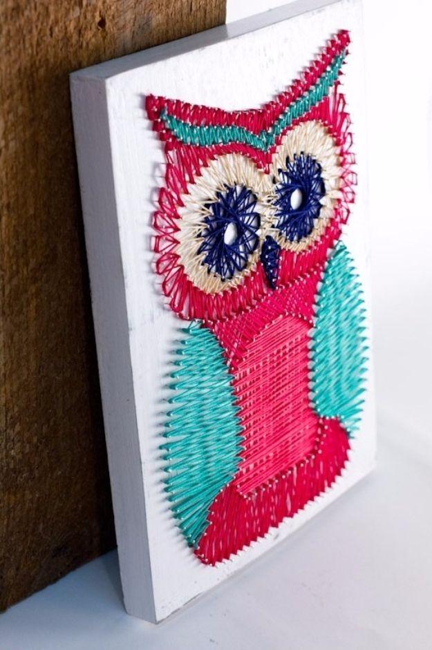 Diy String Art Animals 28 - Creative DIY String Art Animals For Everyone