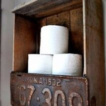 Diy Toilet Paper Holder 10 214x214 - 40+ Creative & Easy DIY Toilet Paper Holders