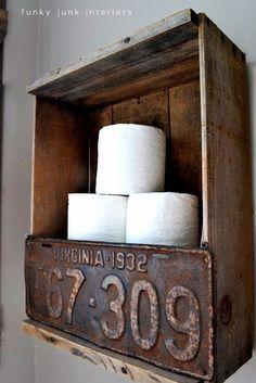 Diy Toilet Paper Holder 10 - 40+ Creative & Easy DIY Toilet Paper Holders