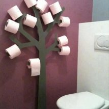 Diy Toilet Paper Holder 12 214x214 - 40+ Creative & Easy DIY Toilet Paper Holders