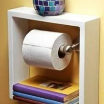 Diy Toilet Paper Holder 13 214x214 - 40+ Creative & Easy DIY Toilet Paper Holders