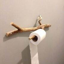 Diy Toilet Paper Holder 16 214x214 - 40+ Creative & Easy DIY Toilet Paper Holders