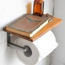 Diy Toilet Paper Holder 22 214x214 - 40+ Creative & Easy DIY Toilet Paper Holders