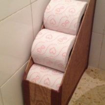 Diy Toilet Paper Holder 24 214x214 - 40+ Creative & Easy DIY Toilet Paper Holders