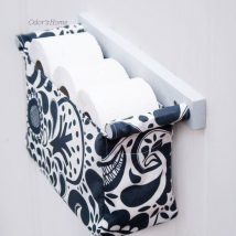 Diy Toilet Paper Holder 29 214x214 - 40+ Creative & Easy DIY Toilet Paper Holders