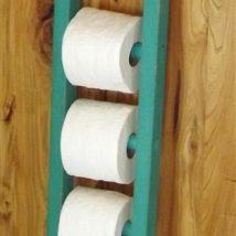 Diy Toilet Paper Holder 30 214x214 - 40+ Creative & Easy DIY Toilet Paper Holders