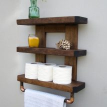 Diy Toilet Paper Holder 31 214x214 - 40+ Creative & Easy DIY Toilet Paper Holders
