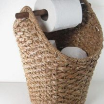 Diy Toilet Paper Holder 38 214x214 - 40+ Creative & Easy DIY Toilet Paper Holders