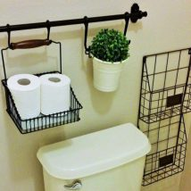Diy Toilet Paper Holder 6 214x214 - 40+ Creative & Easy DIY Toilet Paper Holders