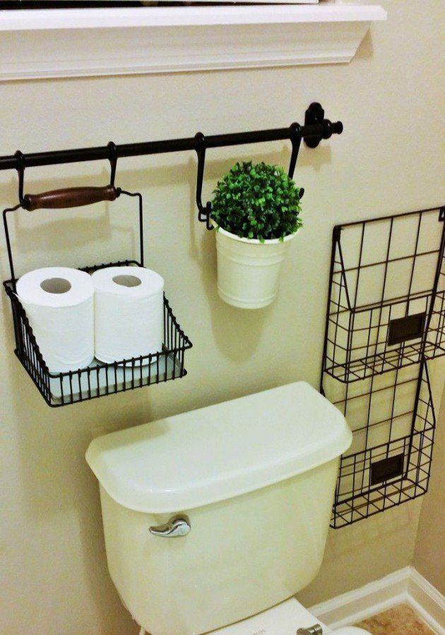 Diy Toilet Paper Holder 6 - 40+ Creative & Easy DIY Toilet Paper Holders