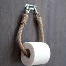 Diy Toilet Paper Holder 7 214x214 - 40+ Creative & Easy DIY Toilet Paper Holders