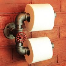 Diy Toilet Paper Holder 8 214x214 - 40+ Creative & Easy DIY Toilet Paper Holders