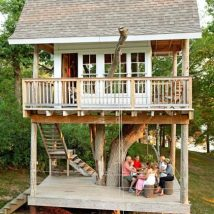 Diy Tree Houses 11 214x214 - 45+ DIY Tree House Ideas For Your Inspiration