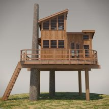 Diy Tree Houses 12 214x214 - 45+ DIY Tree House Ideas For Your Inspiration