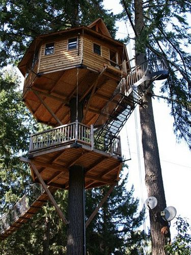 Diy Tree Houses 36 - 45+ DIY Tree House Ideas For Your Inspiration