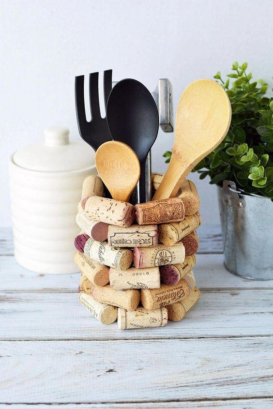 Diy Utensil Holder Projects 17 - Miraculous DIY Utensil Holder Projects Ideas