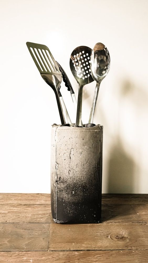 Diy Utensil Holder Projects 19 - Miraculous DIY Utensil Holder Projects Ideas