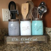 Diy Utensil Holder Projects 20 214x214 - Miraculous DIY Utensil Holder Projects Ideas