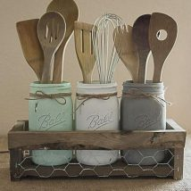 Diy Utensil Holder Projects 46 214x214 - Miraculous DIY Utensil Holder Projects Ideas