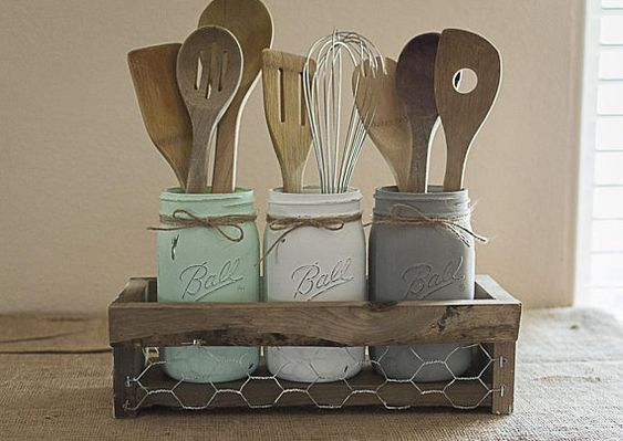Diy Utensil Holder Projects 46 - Miraculous DIY Utensil Holder Projects Ideas