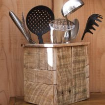 Diy Utensil Holder Projects 6 214x214 - Miraculous DIY Utensil Holder Projects Ideas