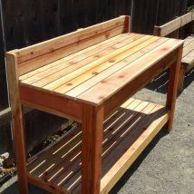 Farmhouse Garden Benches 8 214x214 - Wonderful Farmhouse Garden Benches Ideas