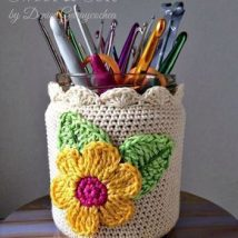 Mason Jar Pencil Holders 1 214x214 - Spectacular Mason Jar Pencil Holders Ideas