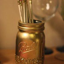 Mason Jar Pencil Holders 11 214x214 - Spectacular Mason Jar Pencil Holders Ideas
