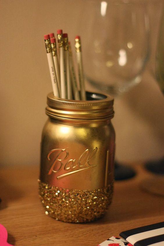 Mason Jar Pencil Holders 11 - Spectacular Mason Jar Pencil Holders Ideas
