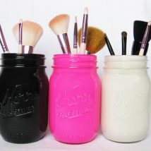 Mason Jar Pencil Holders 13 214x214 - Spectacular Mason Jar Pencil Holders Ideas