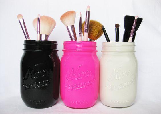 Mason Jar Pencil Holders 13 - Spectacular Mason Jar Pencil Holders Ideas