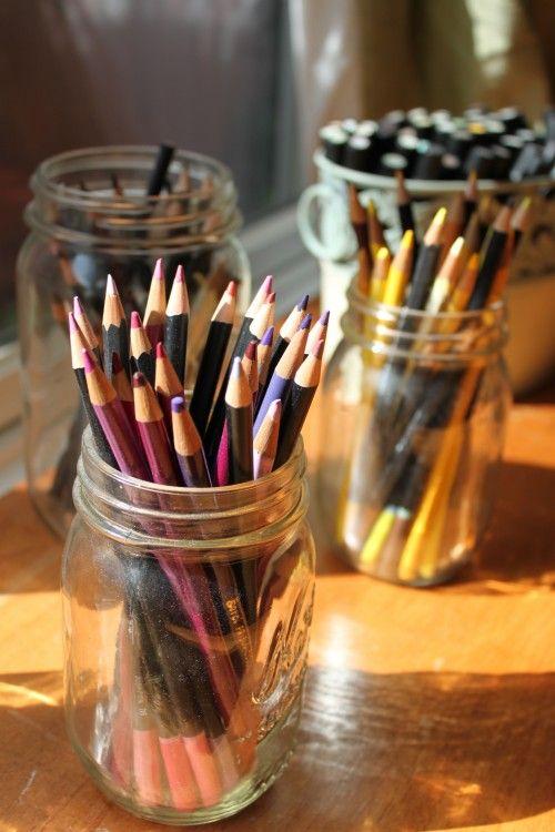 Mason Jar Pencil Holders 14 - Spectacular Mason Jar Pencil Holders Ideas