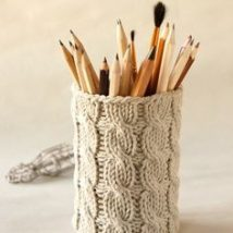 Mason Jar Pencil Holders 15 214x214 - Spectacular Mason Jar Pencil Holders Ideas