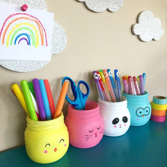 Mason Jar Pencil Holders 18 - Spectacular Mason Jar Pencil Holders Ideas