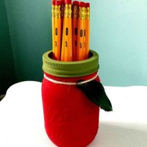 Mason Jar Pencil Holders 2 214x214 - Spectacular Mason Jar Pencil Holders Ideas