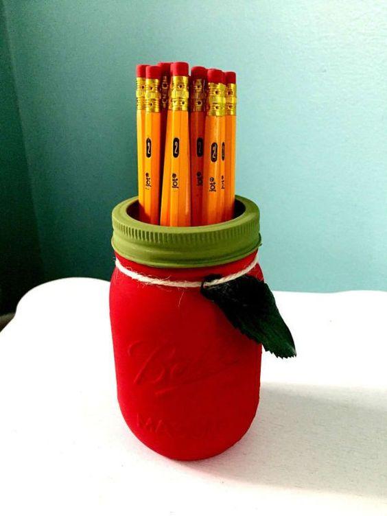 Mason Jar Pencil Holders 2 - Spectacular Mason Jar Pencil Holders Ideas