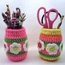 Mason Jar Pencil Holders 20 214x214 - Spectacular Mason Jar Pencil Holders Ideas