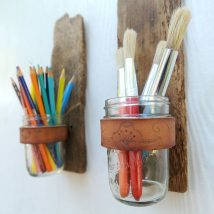 Mason Jar Pencil Holders 22 214x214 - Spectacular Mason Jar Pencil Holders Ideas
