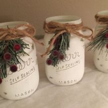 Mason Jar Pencil Holders 23 214x214 - Spectacular Mason Jar Pencil Holders Ideas