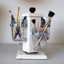Mason Jar Pencil Holders 24 214x214 - Spectacular Mason Jar Pencil Holders Ideas