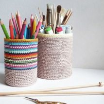 Mason Jar Pencil Holders 26 214x214 - Spectacular Mason Jar Pencil Holders Ideas