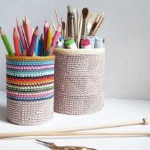 Mason Jar Pencil Holders 26 214x214 - Spectacular Mason Jar Pencil Holders Ideas